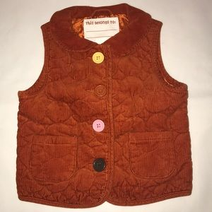 Orange Corduroy Vest Gymboree Fall for Monkeys 3-4